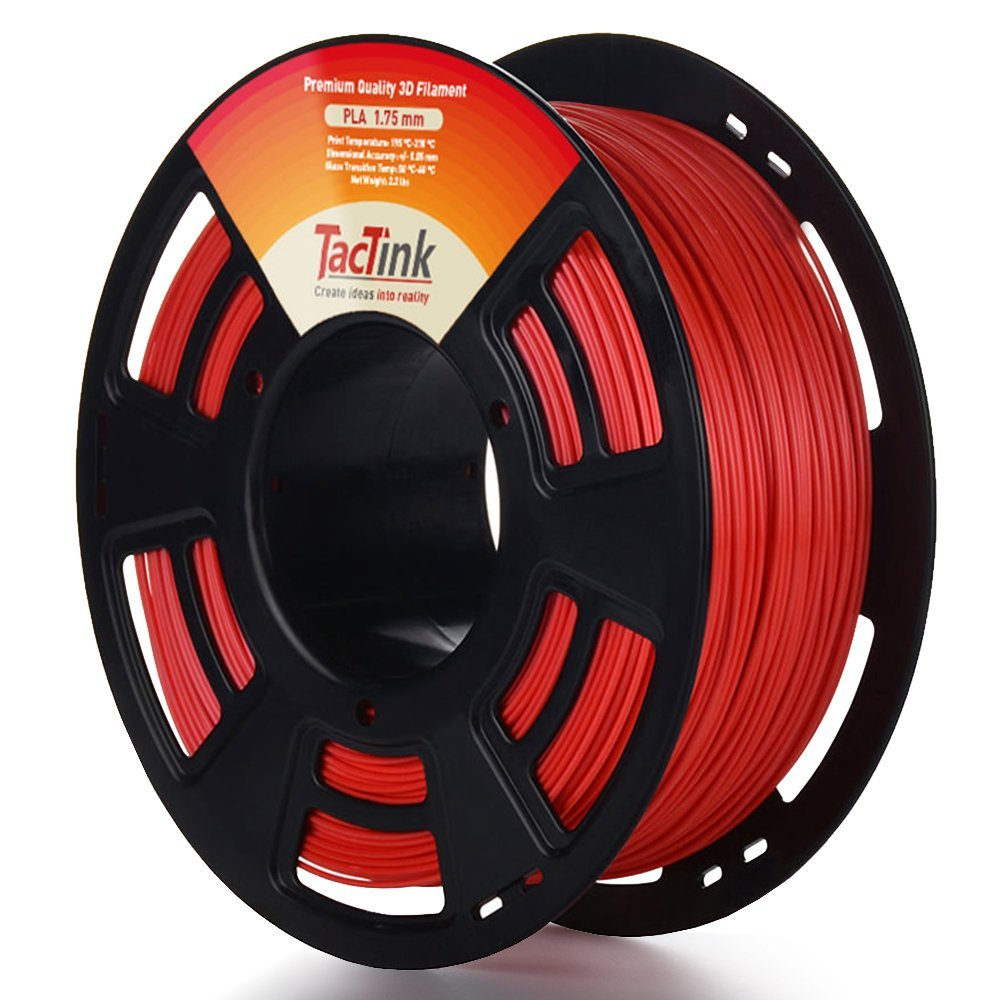 Tactink RED PLA 3D printing filament