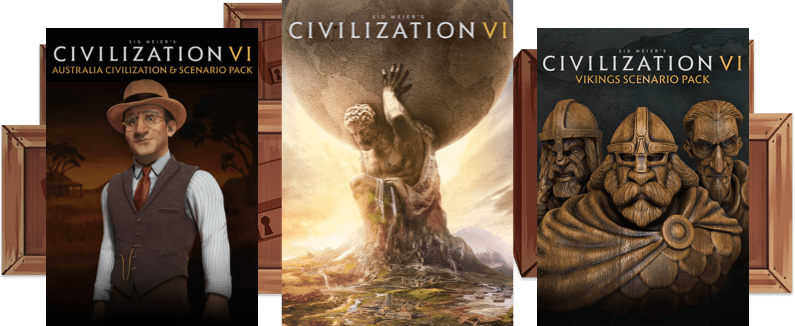 The Early Unlock game for February is Sid Meier's Civilization VI, the Australia Civilization & Scenario Pack, and the Vikings Scenario Pack!