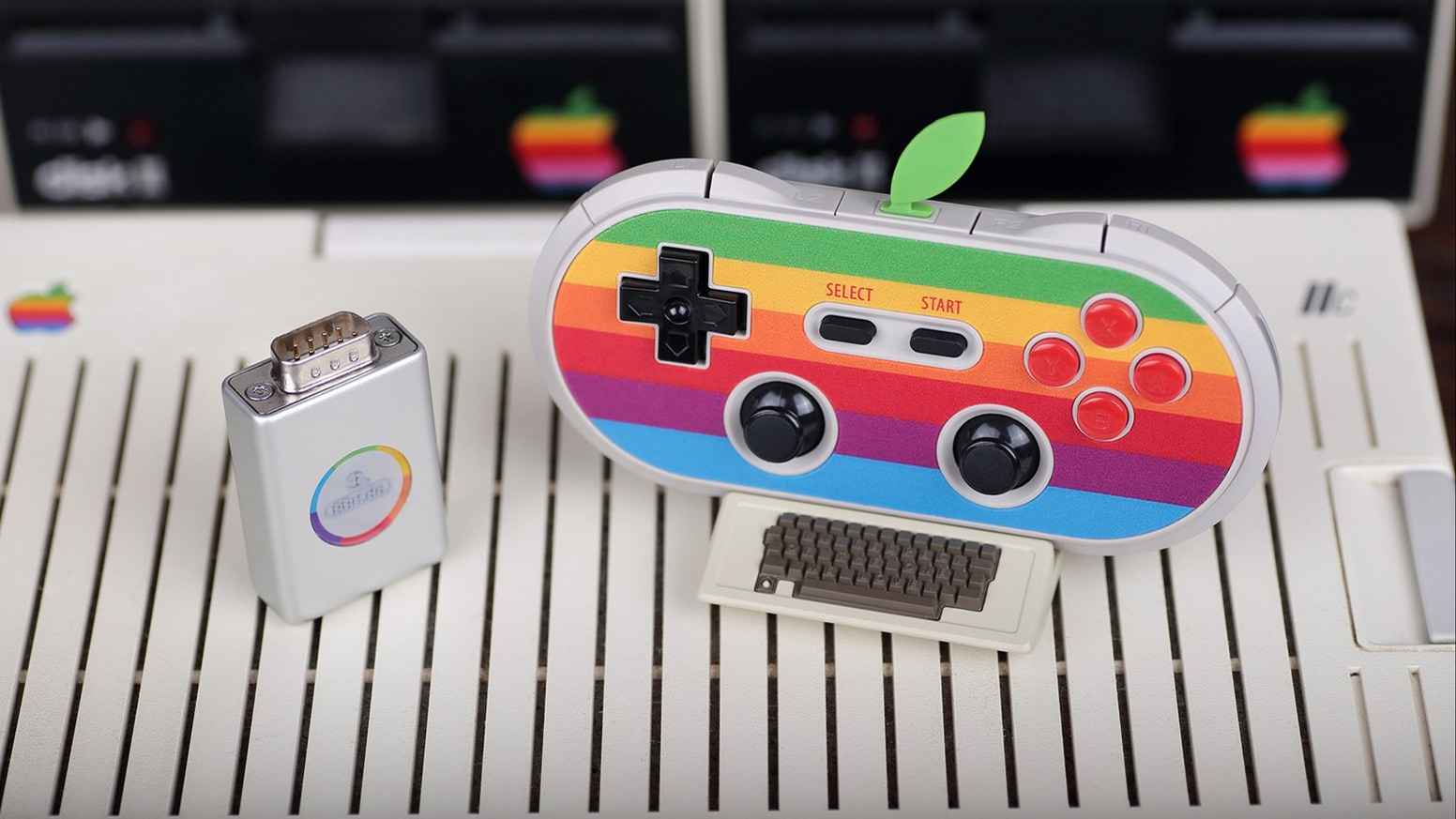 Firmware update for 8Bitdo AP40 Apple II Retro Receiver and Bluetooth Controller