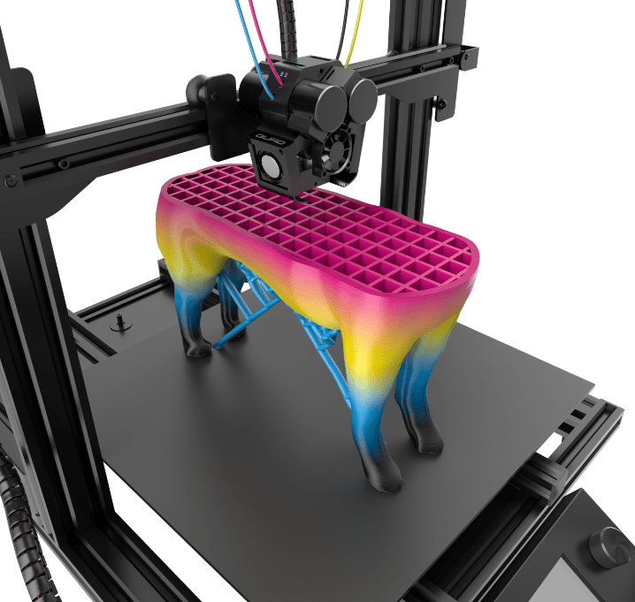 I'm interested in not only printing in color, but also with dissolvable supports.