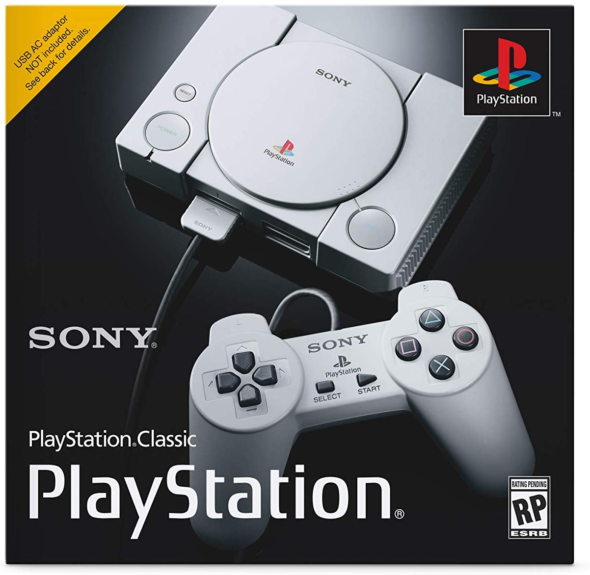 The front of the box for the PlayStation Classic