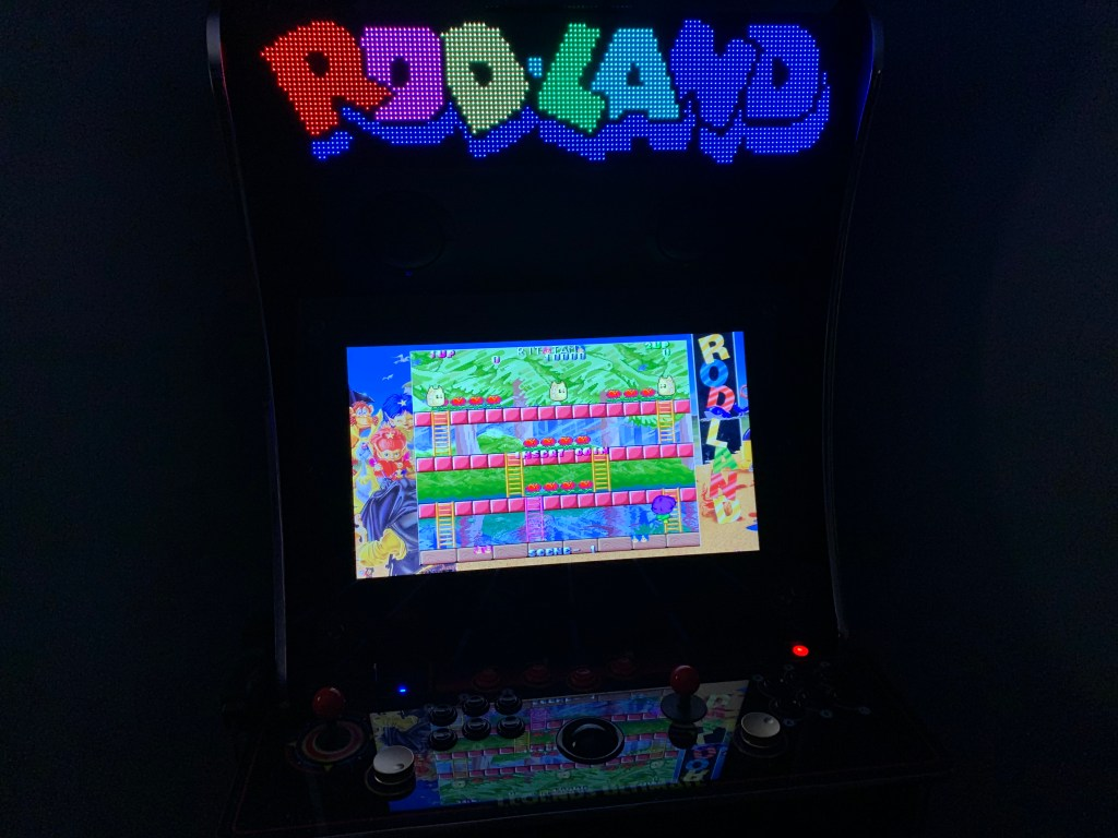Rod-Land running on the Legends Ultimate