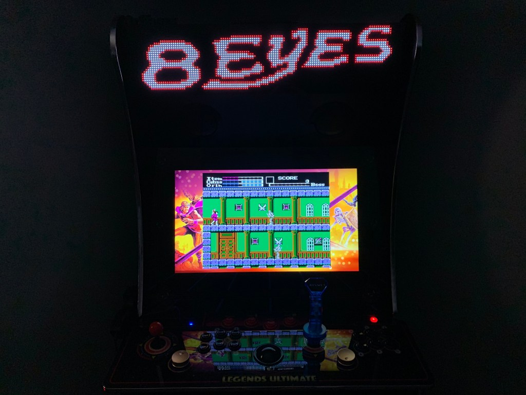8 Eyes running on the Legends Ultimate with Pixelcade.