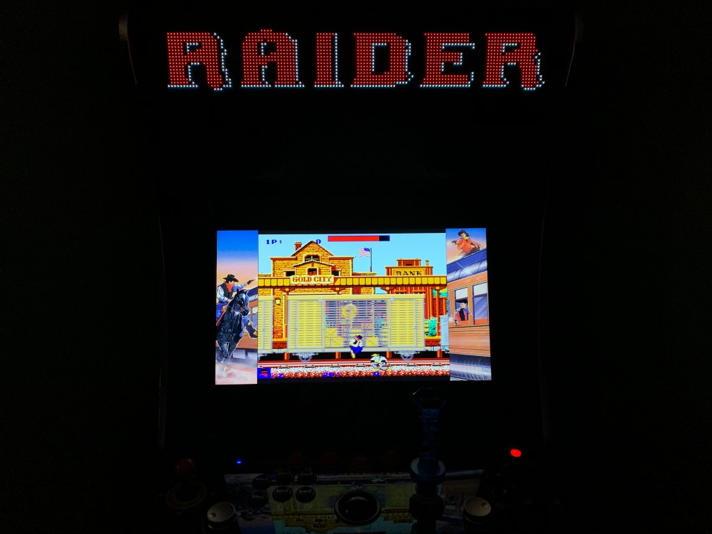 Express Raider / Western Express running on the Legends Ultimate with Pixelcade
