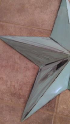 Heavy distress/paint smear