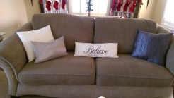 Christmas decor believe pillow