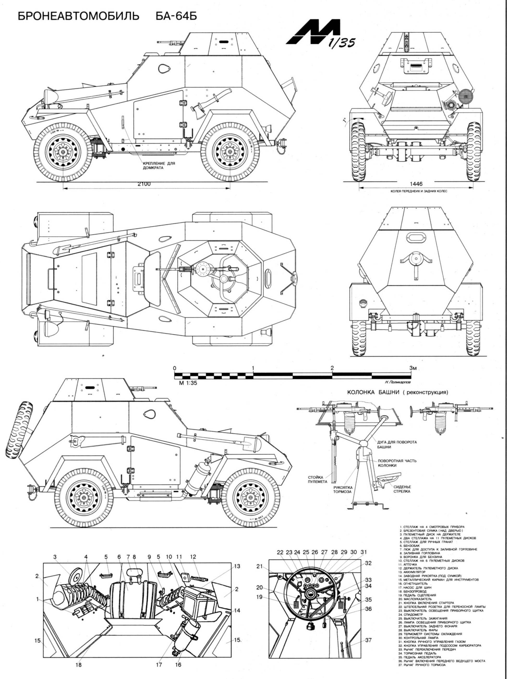 Ba 64 Armored Car Blueprints