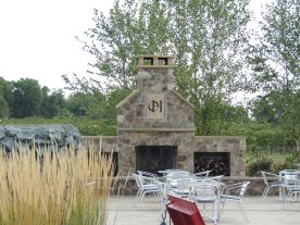 I want this stone fireplace in my backyard!