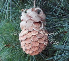 Pine Cone Christmas Tree Ornaments