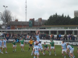 ... and in the lineout