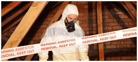 asbestos removal - warning asbestos keep out