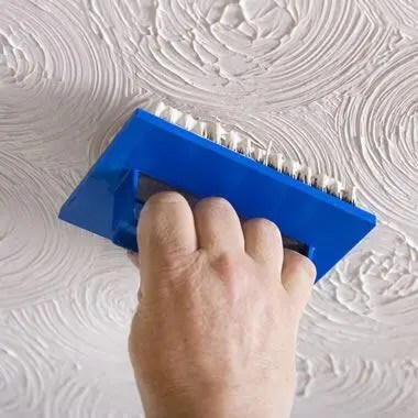 how to recognise asbestos - textured coated ceiling
