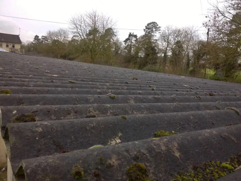 asbestos cement garage roof