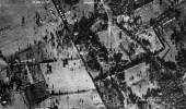 Soviet truck convoy deploying missiles near San Cristobal, Cuba, on Oct. 14, 1962. This image, taken by Maj. Steve Heyser in a USAF U-2, is the first picture that proved Russian missiles were being emplaced in Cuba. (U.S. Air Force photo)