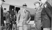 John J. McCloy served as Assistant Secretary of Warfrom 1941 to 1945. Here, he arrives in Berlin for the 1945 Potsdam Conference.