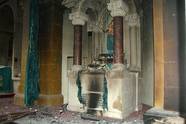 Armenian church reportedly burned down in Aleppo