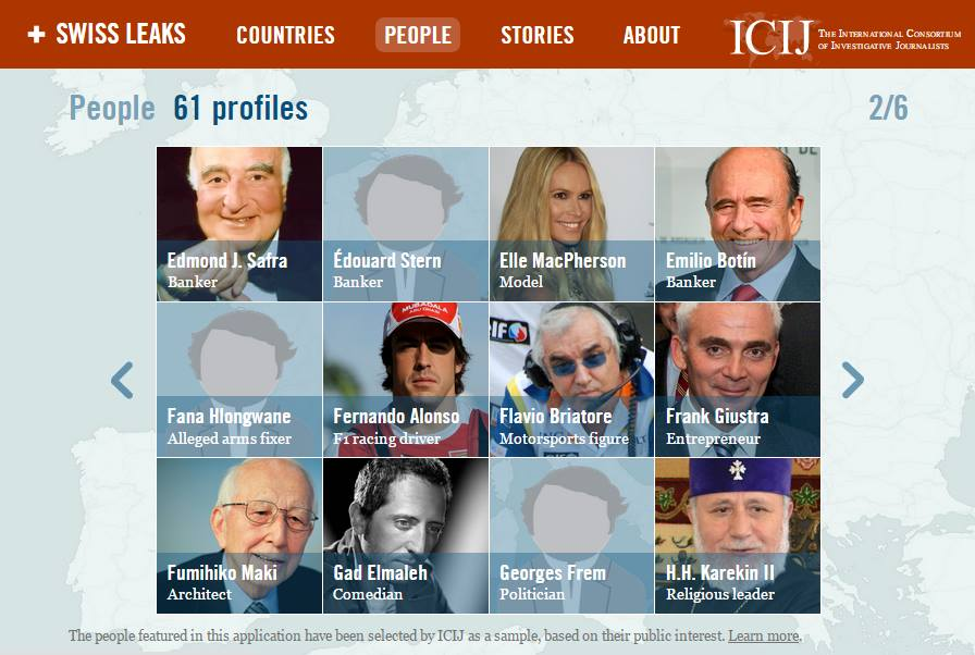 Among the 61 clients profiled on the ICIJ website is the Supreme Patriarch and Catholicos of All Armenians and head of the Armenian Apostolic Church, Catholicos Karekin II.