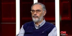 Etyen Mahcupyan during an interview with CNN Turk on April 10 (Photo: a screenshot from the interview)