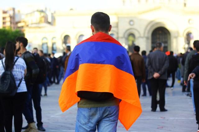 armenia velvet revolution nationalism armenian flag