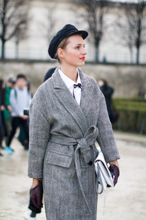 Street style trends at fashion week, fall fashion gray