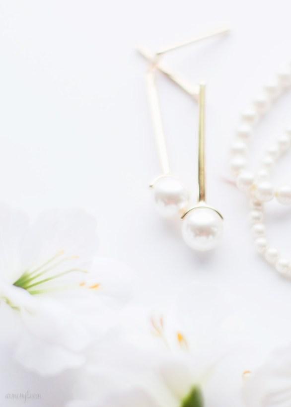 Zara Pearl Earrings by Armenyl.com