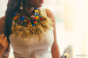 Christie Brown Button bib for Shopping for Fashion in Ghana, Accra, Osu West Africa style photographed by Fashion blogger Armenyl