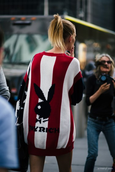 Fashion Model Lexi Boling in Joyrich sweater at New York City for NYFW Street style Photograph by Armenyl.com