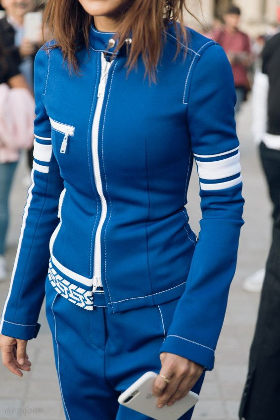 Street Style Fall Fashion Looks at Louis Vuitton SS 2018 Show in Paris photo by Armenyl
