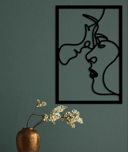 Couple Love - 60/40 cm - en Bois Noir