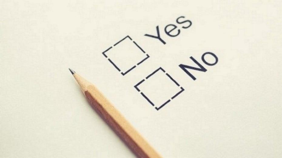 Vote yes no