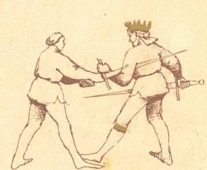 Sword disarm from the Pisani-Dossi manuscript.
