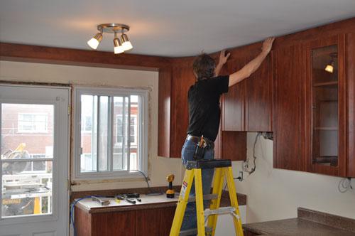 r novation de cuisine armoires super prix 514 522 5562 5500 rue chapleau montr al. Black Bedroom Furniture Sets. Home Design Ideas