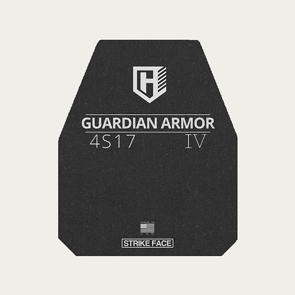 Guardian 4S17 - Level IV Rifle Protection Plates - Swimmer's Cut