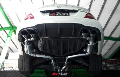 Fi Exhaust C63 AMG W204 On Car
