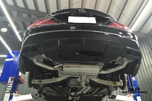 Fi Exhaust CLA45 AMG W117 On Car