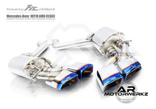 Fi Exhaust CLS63 AMG W218 mufflers