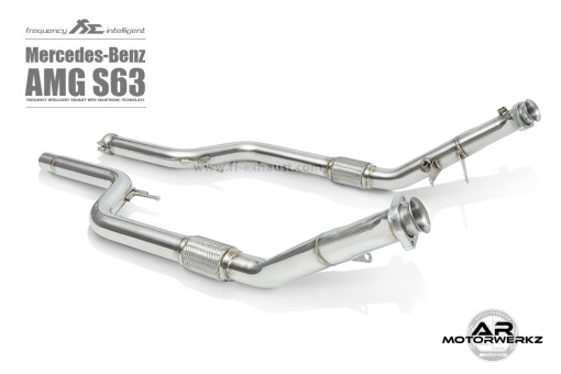 Fi Exhaust S63 AMG Coupe C217 front to mid