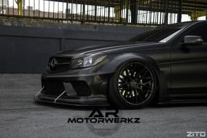 Mercedes W204 C63 AMG on ZITO ZF01