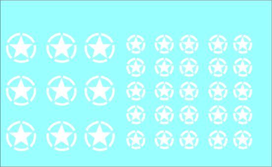 Black Lion Decals 1/72nd Allied White Stars - Broken Circle