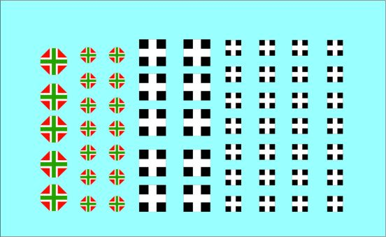 Black Lion Decals 1/72nd Hungarian Crosses