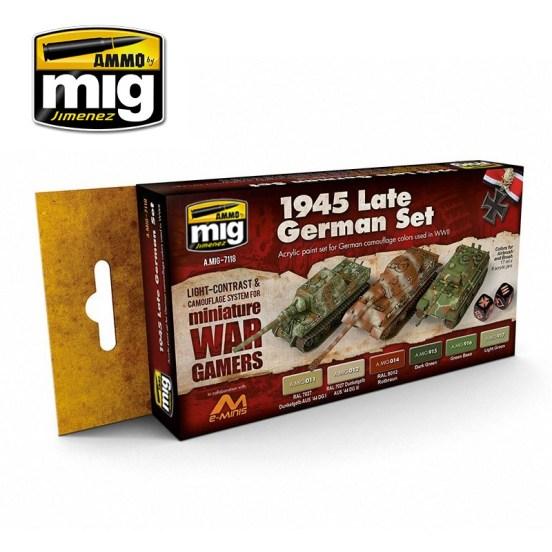 Wargame 1945 Late German Set