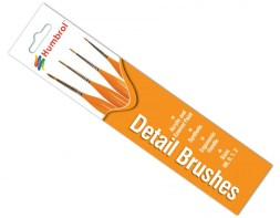 Humbrol Detail Brushes Sizes 00,0,1 & 2