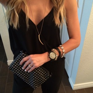 LE TOTE | Noir Lux - Black Studded Bag