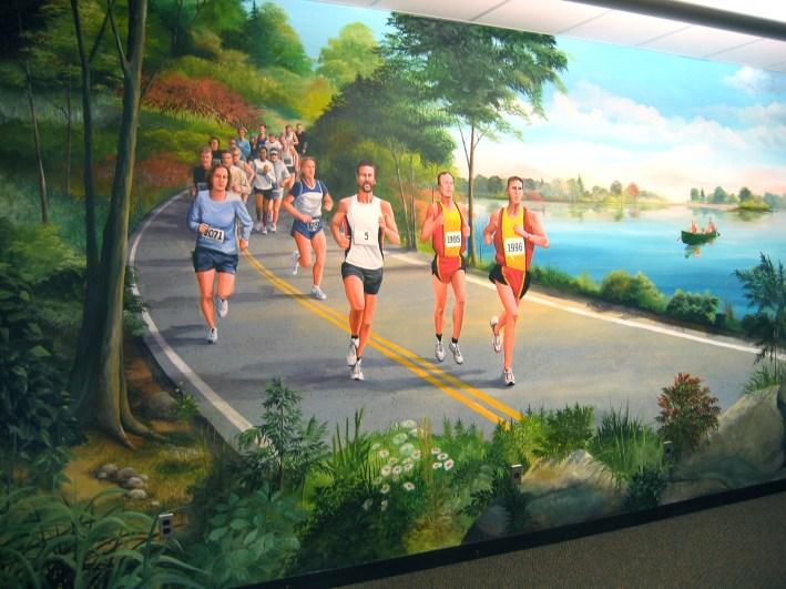 Runners at Dominos