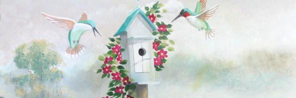 PICU hummingbird mural hero