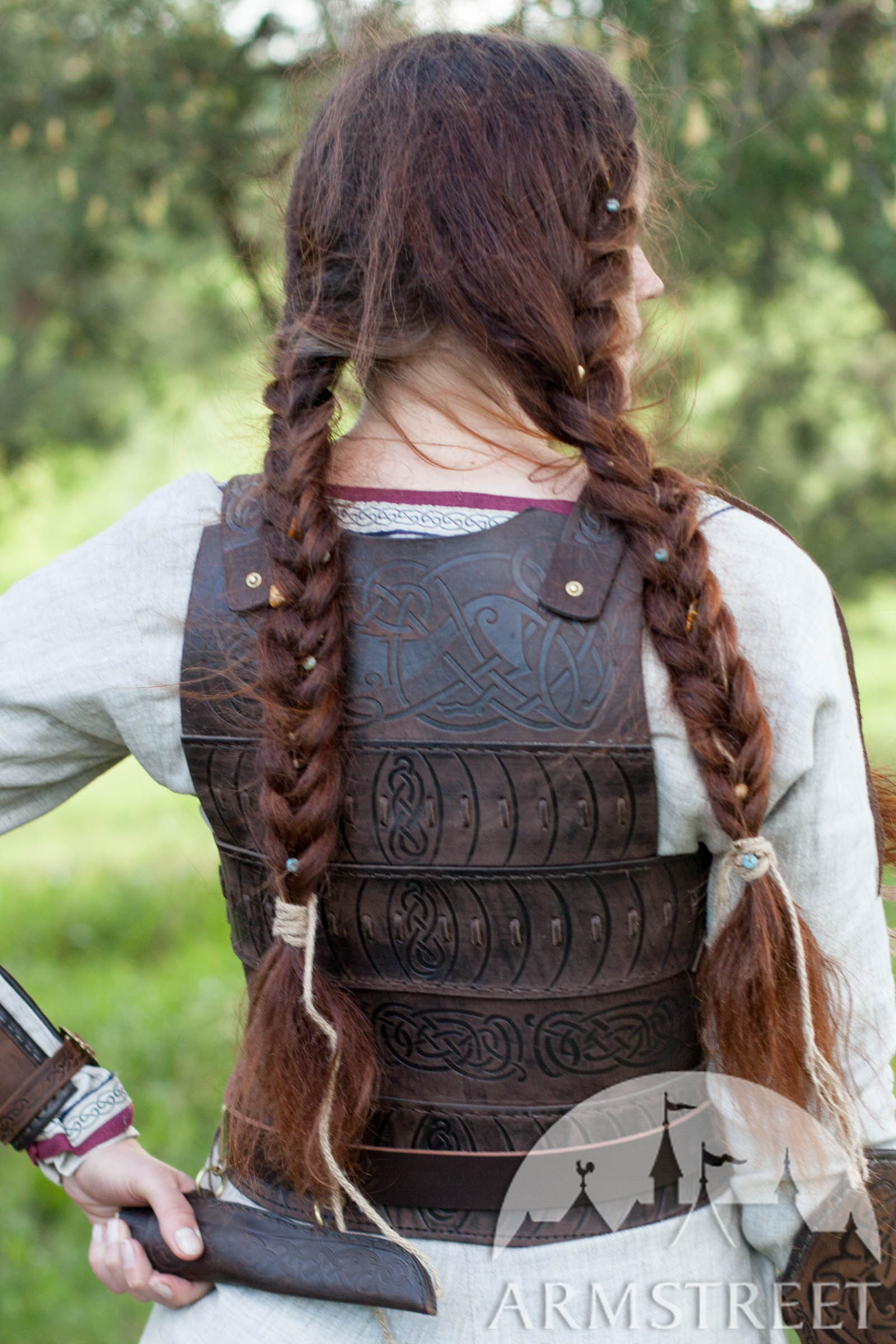 Womens Leather Corset Armor Shieldmaiden Available In