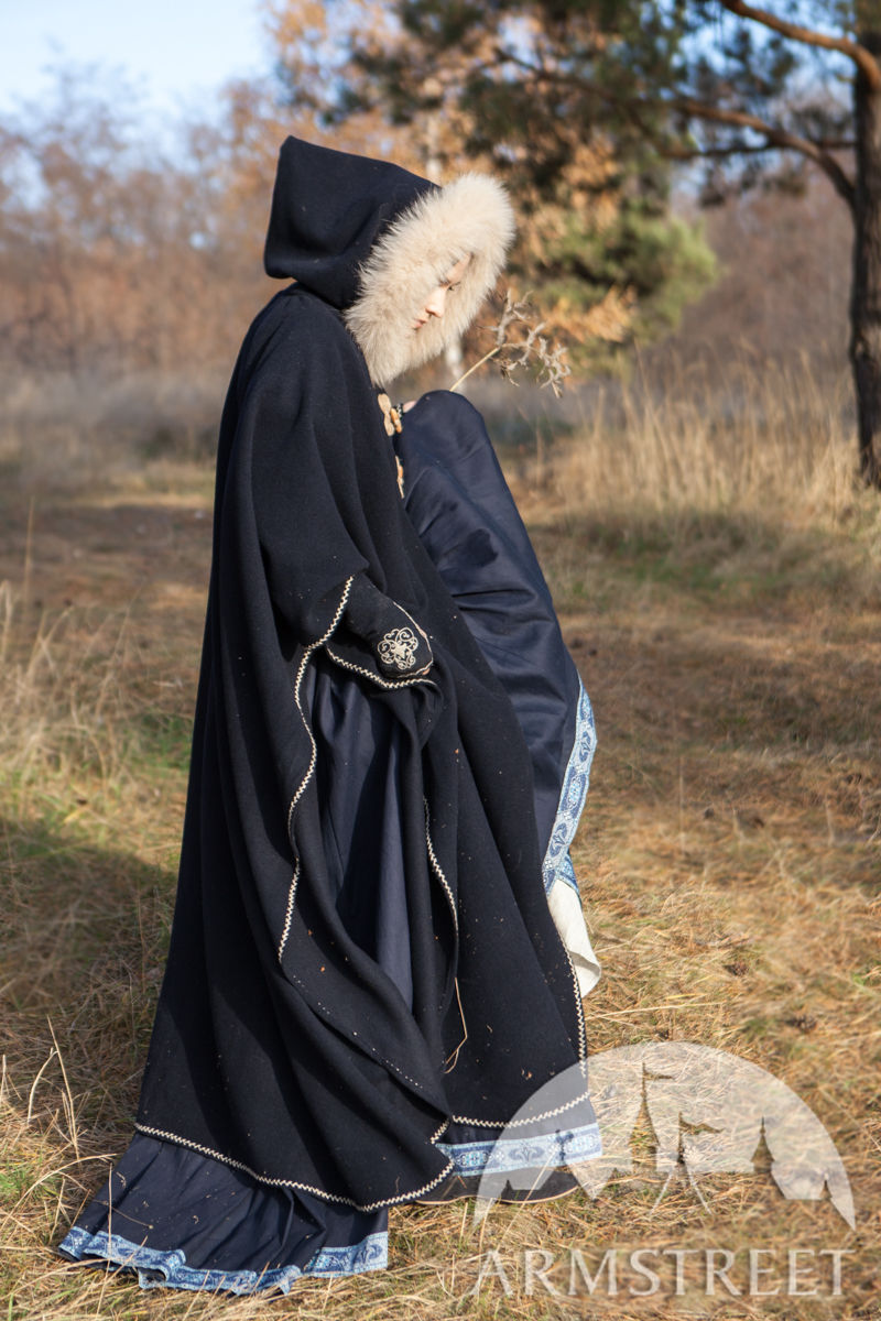 Lost Princess Cloak Cape Available In Black Wool