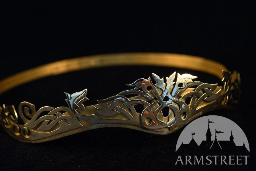 Handmade Doublelayered Exclusive Brass Crown For Sale