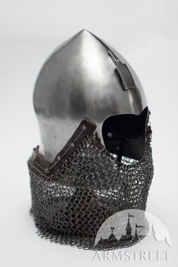 Medieval Italian Narrow Face Bascinet Helm Helmet Armor
