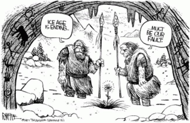 Global Warming Cavemen